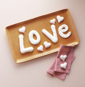 And, if you love meringue whip some up, add it to a piping bag, and spell out whatever you want to say to your beloved this weekend. Happy Valentine's Day. Have you come up with some of your own good things? Share them with me in the comments section below. I'd love to hear them.