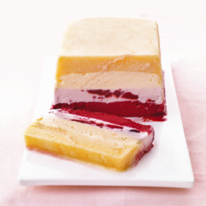 This is an easy dessert Good Thing. Line a loaf pan with plastic wrap, then assemble store-bought sorbets, ice creams, and frozen yogurts in layers (freezing between flavors) to make this impressive, icy treat!