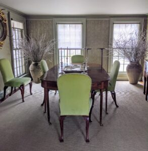 This room had long been used as a small dining room for parties. Last year, with many of those gatherings canceled because of the pandemic, I decided to rethink its function and create a more usable space.
