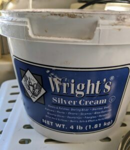 I've used Wright's Silver Cream for years. Wright's Silver Cream is a gentle all-purpose polish that works on all types of silver. It also works nicely on stainless steel and chrome.