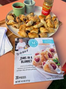 """Appropriately re-named """"doggs"""" in a blanket just for the Puppy Bowl, these delicious bites are part of my new line, Martha Stewart Kitchen, which brings delicious, yet convenient, gourmet foods items from your local grocery store to your table for entertaining or everyday use. Have you tried any of my products yet? You'll love them all."""