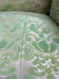 Here at the seam the pattern is carefully matched - a sign of true artistry and attention to detail.