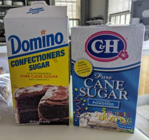 I use Domino whenever recipes call for sugar. I use it in my own baking and whenever we bake on television or social media. Domino is used on the east coast, while their C&H brand sugar is used on the west coast.