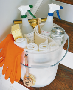I always remind everyone who works at my farm to bring all the tools and supplies they may need to a project. For cleaning jobs at home, gathering most-used supplies in one convenient bucket will save lots of time looking for items later.