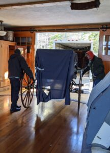 Here's another carriage entering the carriage house. This is the Brewster Bronson Wagon.