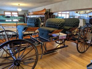 I do store one carriage at Skylands already. I own an original Bar Harbor buckboard, one of the early carriages that carried visitors through the park. It was designed for use by hotels as a beach wagon during the holiday season. It was built around 1915 in the town of Bar Harbor.