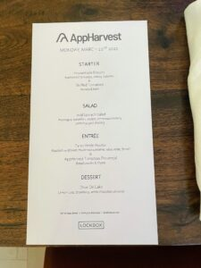 AppHarvest hosted a lovely Board dinner which included an array of dishes inspired by my own recipes and using AppHarvest's tomatoes. Dinner was prepared by prepared by 21c Museum Hotel's Lockbox Restaurant.