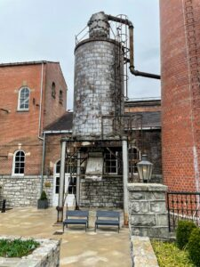This was the old boiler room for the distillery. It is now the entrance into the gift shop.