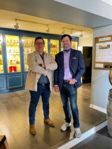 Next stop was Justins' House of Bourbon. And here to greet Ryan are owners, Justin Sloan and Justin Thompson. The two opened their first wine and spirits shop in Lexington in 2018.