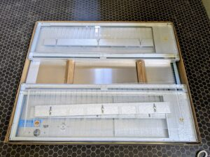 This box brooder was very easy to assemble and comes complete with a light, thermostat, heater, and three trough feeders/waterers.