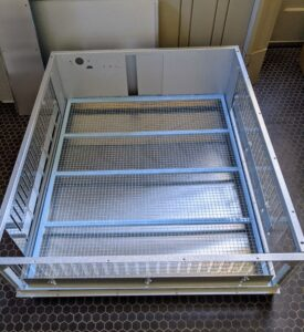 The box brooder measures 32-inches long by 38-inches wide by 12-inches tall - a protective and roomy enclosure for housing a good number of chicks for the first couple weeks.