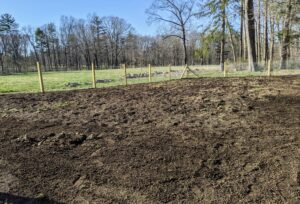 The actual pumpkin patch will be tilled and prepared for planting, but the fence is now complete and it looks terrific.