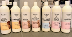 My line of pet shampoos and conditioners on Amazon is completely natural, hypoallergenic and gentle enough for regular bathing. The formulas are also paraben and sulfate free. My collection includes an all-purpose formula, an itch relief formula, a special moisturizing formula and a two-in-one tearless shampoo and conditioner formula for puppies.