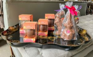 And of course, I had lots of fun chocolate Easter bunnies and eggs for the children.