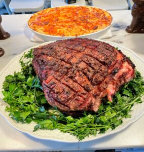 The ham is from my friend, Pat LaFrieda. Pat LaFrieda Meat Purveyors is a third generation meat wholesaler based in North Bergen, New Jersey. He sells dry-aged steaks, artisanal burger patties, and selected cuts of beef, pork, poultry, veal, lamb and buffalo.