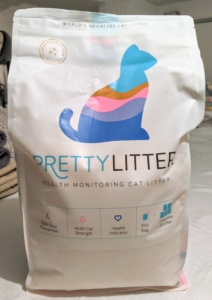 """If you're not already using Pretty Litter, please check it out. It's so effective against that """"cat box smell."""" I have three cats, but you'd ever know it. Go to the web site to learn more about Pretty Litter. For Earth Day, Pretty Litter is also offering 20-percent off plus a cat toy if you order now."""