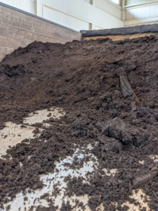 We use composted manure and top soil for potting our cuttings. Composting manure above 131-degrees Fahrenheit for at least a couple weeks will kill harmful pathogens, dilute ammonia, stabilize nitrogen, kill weed seeds and reduce any objectionable odors. I am so proud of the nutrient-rich soil we make here at the farm.