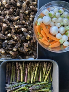 When I host dinners at my farm, I always plan the menu myself, but Chef Pierre and I will also discuss what's in season at the time, and what I may have growing in my gardens.