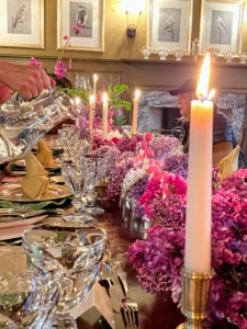 Guests were seated to our candlelight dinner. It is so beautiful.