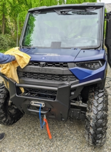 Next, Andres dries the vehicle. Another great feature is the windshield wiper washer system which is standard on this model.