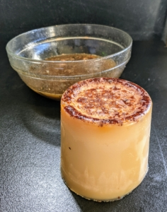 And here's a tip: when there is a lot of fat collected after cooking, let it cool slightly and then pour it into a small plastic container to freeze. When frozen, it can easily be thrown away - and of course, never pour fat or oil down the drain.