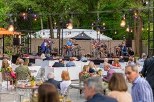The band, which performs around the New York tristate area, played until the sun set. (Photo by Gabe Palacio for Caramoor)
