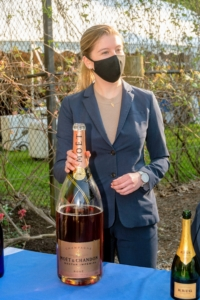 Guests were welcomed to the party with champagnes including this Moet & Chandon Nectar Imperial. (Photo by Gabe Palacio for Caramoor)