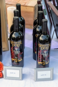 These are some of the rare and on-theme wine bottles that went up for auction, raising funds for Caramoor's community outreach and education programs. (Photo by Gabe Palacio for Caramoor)
