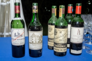Here are some of the vintages of wines from the 1960s and 1970s we enjoyed. (Photo by Gabe Palacio for Caramoor)