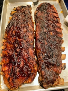 For lunch on the next day, we enjoyed these mouth watering barbecued ribs. They were steamed first and then roasted to perfection.