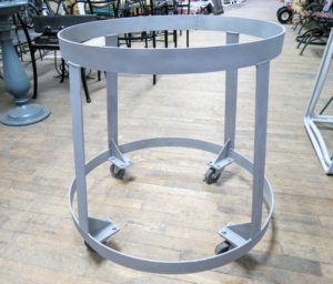 Here is the old metal baker's table base completely stripped down to the metal - it looks like new.