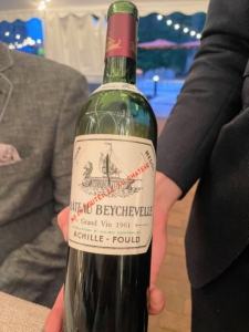 This is a 1961 Chateau Beycheville that was tasted side by side with a 1975 Chateau Haut Brion during the Third Course - Blue Hill Farm Pork.