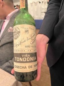 During the Fourth Course, we tasted this 1970 R. López de Heredia Rioja Reserva Viña Tondonia alongside a 1970 Chateau Latour.