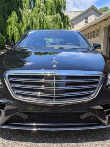 This is my Mercedes-Benz S560 4MATIC sedan. It's such a great car. My drivers and I love its maneuverability and comfort. Every morning, before I leave for a busy day of work, my driver Andres makes sure it is clean, packed, and ready to go.