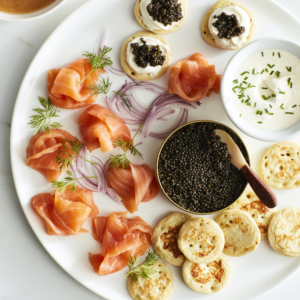 If you love caviar as much as I do, you'll definitely want to order a tin of ROE White Sturgeon Caviar that has been cultivated on a farm in Northern California and salted once a month for freshness. The caviar boasts a buttery, briney, nutty flavor profile and contains no borax or preservatives. It is one of my favorites.