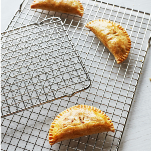 Our partner Sur La Table offers these Stainless Steel Cooling Grids. Uniquely sized to fit quarter- and half-sheet baking pans, these cooling racks are durable and dishwasher-safe.