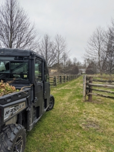These all-terrain vehicles are great to use when driving in between the horse paddocks - they are so easy to drive in narrow, tight spaces where no other vehicles can go.