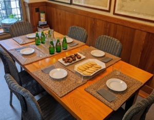 All my garden tours conclude with refreshments. They are served homemade cookies and cold drinks while they listen to a brief overview of the property and information on the work of landscape architect, Jens Jensen.