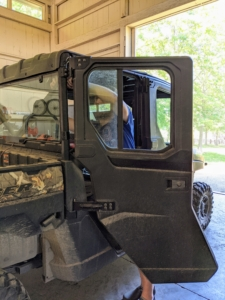 During summer, we remove the doors - it's a very easy process and keeps the vehicles cooler in the hot humid weather.