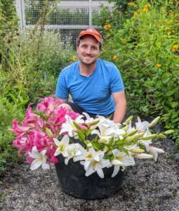 My head gardener, Ryan McCallister, always cuts a selection of beautiful flowers to decorate my home. I love to enjoy the gorgeous blooms in my kitchen, where I can see them every day. When cutting flowers, the best time to do it is early in the morning before the sun and wind have a chance to dry the flowers. One can also cut late in the evening after they are rehydrated.