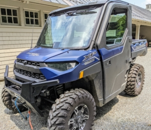 My newest Polaris is a RANGER XP 1000. It is always parked just outside my Winter House and carport ready to use. It is among the newest models available with 82 horsepower – one of the most powerful in its class.