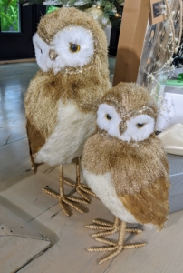 This Metallic Fur Owl has metallic feathers and faux fur and comes in two sizes. Nestle one in the branches of your Christmas tree, or place one or two under the tree with your gifts.
