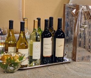 And don't forget the wine. Order this for yourself or give as a gift. This wine set includes three 750-ml bottles of wine and three gift bags with 2018 Bayshore Vintners Cabernet Sauvignon, 2018 Sierra Trails Zinfandel, 2019 Fog Harbor Chardonnay, and 2020 Spencer Family Vineyard Sauvignon Blanc.