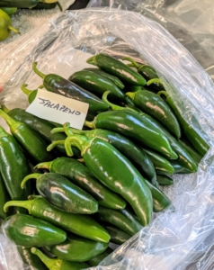 My family loves hot peppers. The jalapeño is a medium-sized chili pepper of the species Capsicum annuum. It is mild to medium in pungency depending on the cultivar. Always be careful when picking peppers – keep the hot ones separated from the sweet ones, so there is no surprise in the kitchen.