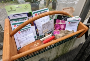 We always have a large variety of seeds to grow. I am always on the lookout for different seeds when I travel, but seeds are also widely available online and at garden centers. Ryan keeps track of what seeds do well at the farm - indoors and out.
