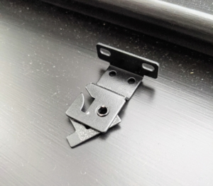 These shade mounting brackets hold the shade securely in place and allow it to move smoothly without falling out.
