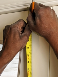 Everything is measured twice, sometimes three times, to ensure everything is lined up perfectly.