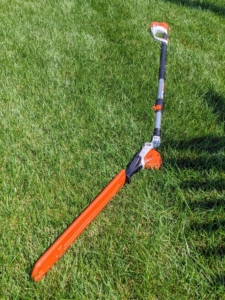 This STIHL hedge trimmer is designed with less bulk than others of its kind. It features hardened, precision-ground cutting blades and anti-vibration technology, keeping hands steady during every job.