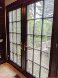 Here they are fully installed on the French doors from Pella. What do you think?