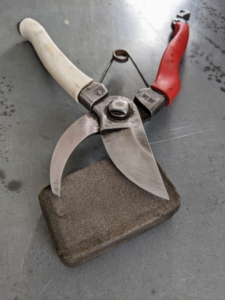 """Whatever kind of sharpener is used, it is crucial to keep these important tools sharp at all times. Sharp pruners and shears for working in the gardens... they're a very """"good thing."""""""